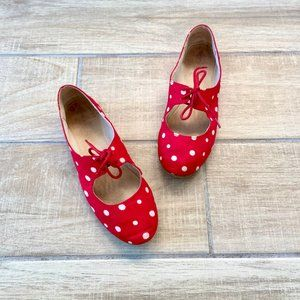 Restricted Red and White Polka Dot Mary Jane Shoes